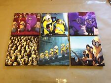 Batch Of 6 MINIONS CANVAS PICTURES Each One 6 X 6 Inches