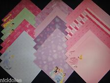 Disney Princess 12x12 Scrapbook Paper Cardstock 24 Lot Belle Cinderella Ariel
