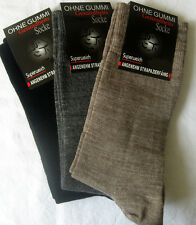 3 Pairs Ladies socks without elastic supersoft Pure Wool black gray brown 35 38