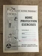 Home Protection Exercises A Family Action Program Booklet 1956 Cold War Prepper