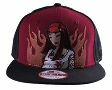 Tokidoki New Era 9fifty in Flames Devil Wine Red Mens Snapback Hat