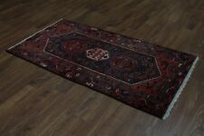 Gorgeous Foyer Size S Antique Hamedan Persian Rug Oriental Area Carpet 3'3X6'4