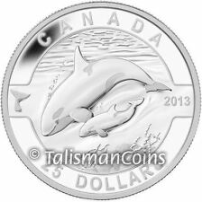 Canada 2013 Oh! Canada Series Mother Orca + Baby Killer Whale $25 Silver Proof