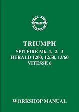 Werkstatthandbuch Triumph Spitfire Mk 1,2,3 & Herald 1200,12/50,13/60 & Vitesse