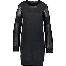 DIESEL Women's Black Leather Panel Dress