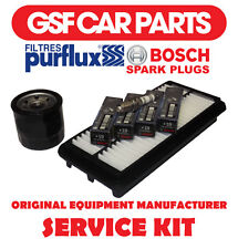 Service Kit - Oil Air Filters & Spark Plugs Replacement Fits Kia Picanto 1.1 1.0