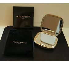Dolce & Gabbana Beauty Dual Make up Compact Purse Mirror Gold NEW