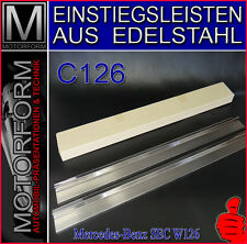 MERCEDES 380sec-560sec 126 w126 sill cover stainless steel in acciaio inox Gonne