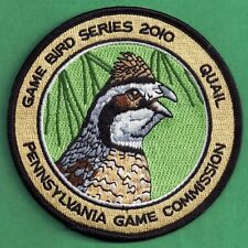 Pa Pennsylvania Game Commission NEW 2010 Bobwhite Quail Game Bird Series Patch