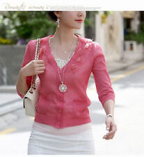 Women Charm Hollow Folwer Crystal Round Pendant Long Sweater Chain Necklace Boho