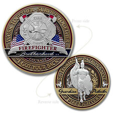 Fire Fighter Brotherhood Challenge coin · FireFighter Saint Florian Coin