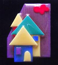 Boxed Modernist Art Deco Vintage Plastic Studio Brooch Pin by Lucinda Yates LY13