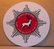 Fire and Rescue Service Hertfordshire  vinyl sticker.
