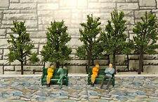 Park Benches+ Trees+ Figurines for Plasticville Lionel for O and 027 L@@K!