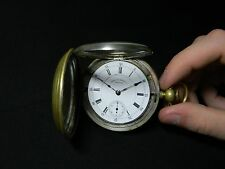 Antique 1885 15 jewel 18s Waltham Pocket Watch double hinged Gold Filled case
