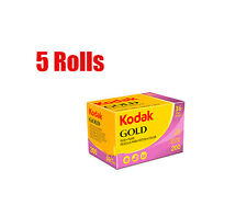 5 Rolls KODAK Gold 200 35mm 135- 36 Color Negative Film Dated 2018