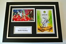 Emile Heskey Signed A4 FRAMED photo Autograph display Liverpool UEFA Cup 2001