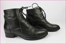 CAROLL Bottines à Lacets Cuir Noir T 36 BE