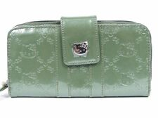 NWT Loungefly Hello Kitty Chive Green Embossed Faux Patent Leather Wallet