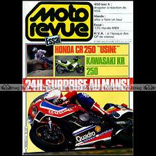 MOTO REVUE N°2652 HONDA MBX 125 CR 250 KAWASAKI KR HUSQVARNA 24 H DU MANS 1984