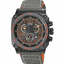 Citizen Eco-Drive Men's AT2288-03H MFD Orange and Gray Nylon Strap Watch