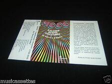 MOOG NEW ZEALAND Unused Inlay Card