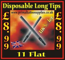 50 disposable tips 11 Flat -(Tattoo Supplies - Grips - Inks - Tattoo Needles)