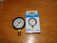 "LEAD FREE 1/4"" BRASS100 PSI Pressure gauge water WELL tank submersible jet pump"