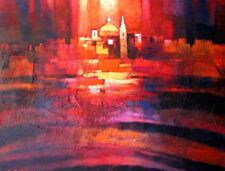 "STUNNING NEW CHRISTOPHER SALIBA ORIGINAL ""Night Scene""  ABSTRACT PAINTING"