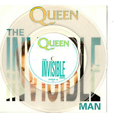 "QUEEN - THE INVISIBLE MAN - RARE 7""45 CLEAR RECORD CARD INSERT 1989"