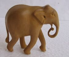 Wood Elephant Statue hand Carved sculpture animal Figurine Home Decor India