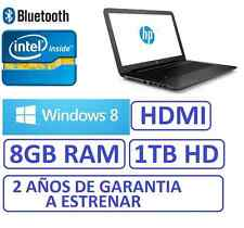 "ORDENADOR PORTATIL HP 15"" INTEL 8GB RAM 1 TB grafica 1756mb WINDOWS , WIFI,"