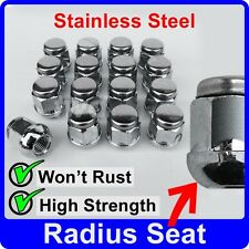 16 x ALLOY WHEEL NUTS FOR HONDA RADIUS SEAT M12x1.5 STAINLESS CAP LUG BOLT [J40]