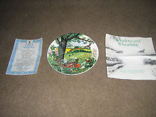 NEW WITH CERTIFICATES WEDGEWOOD  WEDGWOOD MEADOWS & WHEATFIELDS PHEASANT PLATE