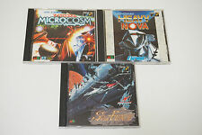 SEGA Mega Drive CD Game SET Lot Microcosm Heavy Nova Sol-Feace Shooter MD Japan