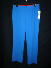 NWT L Ralph Lauren Active Sweat/Yoga/Lounge/Work out Pants Blue/Orange Trim