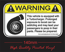 Sticker Custom Vinyl Funny Boost Turbo Warning Sticker For Turbo Rally or Drift