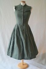Vintage Austrian green 40s WW2 50S victorian sound of music dress 4-6