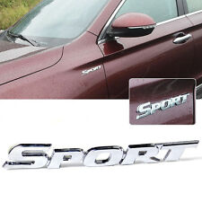 3D Silver Sport Word letter Chrome Metal Car Sticker Emblem Badge Decal Decor