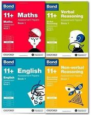 Bond 11+ Assessment Papers English Maths Verbal & No Verbal 9-10+ Set Collection