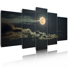 Canvas Prints Home Decor Wall Art Painting Poster-Moon Night Clouds Unframed A+