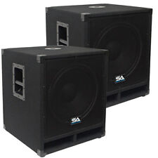 "Seismic Audio Pair  15"" Pro Audio Sub Cabinet PA DJ PRO Audio Speaker Sub  300W"