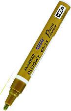 VERNICE ORO base di olio penna IMPERMEABILE LEGNO VETRO PLASTICA GOMMA PNEUMATICO G