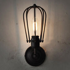 Industrial Retro Wire Cage Ceiling Light  Wall Lamp Flush Mount Wall Lighting