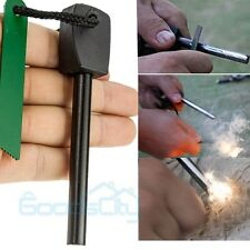 Survival Magnesium Flint Stone Fire Starter Emergency Lighter Kit For Camping