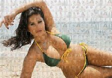 SUNNY LEONE photo mosaic cm. 30x41poster with a lot of pics ---