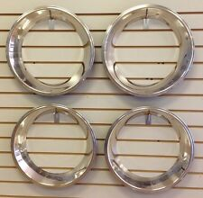 "15"" 2.5"" Deep Stainless Steel Beauty Trim Ring Set of 4 Fits 15x7 Rally Wheels"