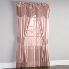 HALLEY CURTAINS, SHEER AND AUSTRIAN VALANCE COMPLETE WINDOW SET