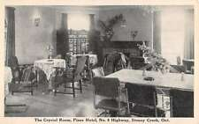 Stoney Creek Ontario Canada Pines Hotel Crystal Room Antique Postcard K20759