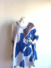 ISSA LONDON SHEER SILK PRINTED TUNIC COVER-UP SIZE UK6 US2